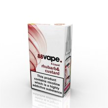 88 Vape E-Liquid Nicotine 11mg Rhubarb & Custard 10ML