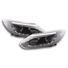 Daylight headlight  Set Ford Focus 3 Year 2010- black