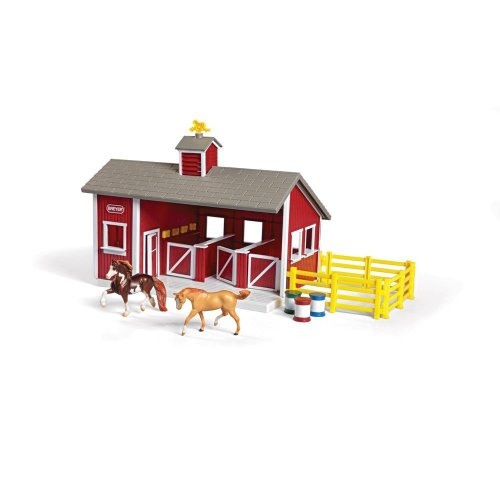 Breyer B59197 Stablemates Red Stable and Horse Set