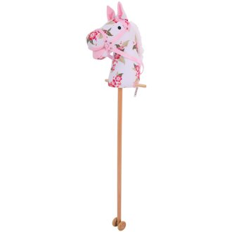 Bigjigs Toys Floral Hobby Horse with Grip Handles and Wheels - Classic Toys