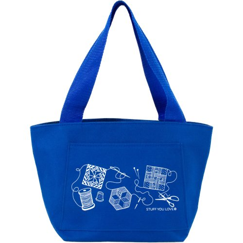 "K1C2 Quilt Happy Petite Project Bag 13""X8""X5""-Blue"