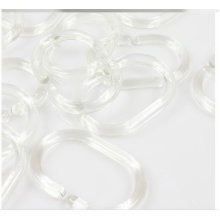 Set of 12 Polyester Durable Shower Curtain Rings Waterproof Transparent Rings