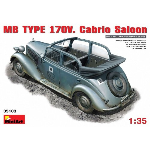 Miniart 1:35 Scale German Staff Car 170V Plastic Model Kit