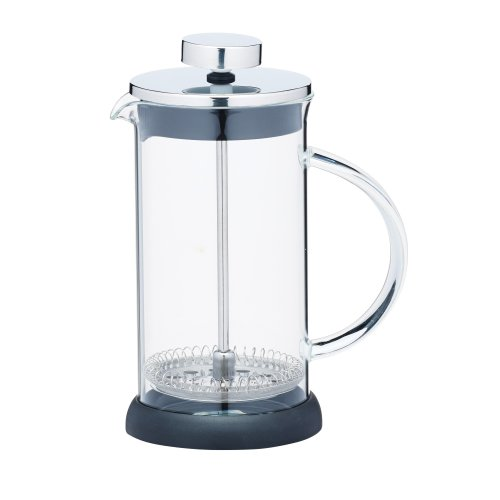 KitchenCraft Le'Xpress 3-Cup Glass/Stainless Steel Cafetiere, 350 ml (12.5 fl oz)