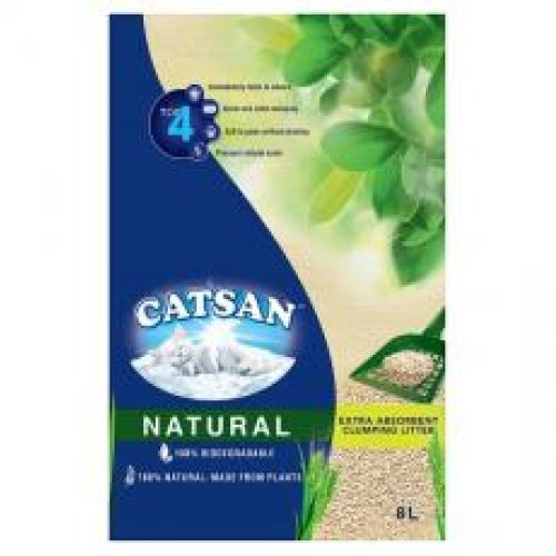 Catsan Natural Biodegradable Clumping Cat Litter 8l