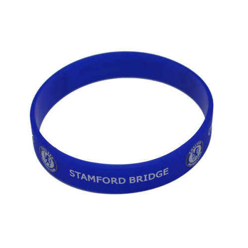 Silicone Wristband - Chelsea F.c - Official Football Crest Rubber Licensed -  official football chelsea wristband crest rubber licensed product