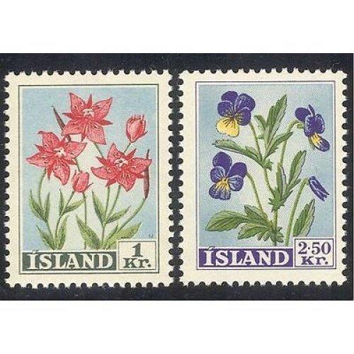 Iceland 1958 Flowers  /  Plants  /  Nature 2v set (n10587)