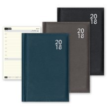 2018 Premium A4 Week Day to View Appointments Diary Hardback Padded Black Blue Grey Christmas Birthday Gift WD2V WDTV DTV Home Office Student