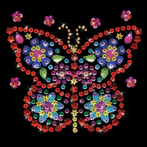 """Design Works/Zendazzle Stamped Needleart Kit 10""""X10""""-Butterfly"""