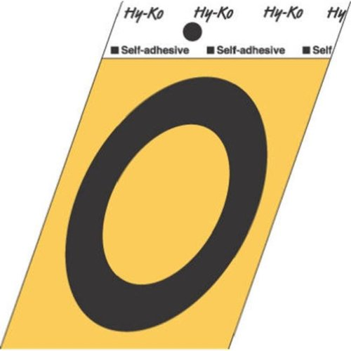 Hy-Ko Products GG-25-O 3.5 in. Aluminum Adhesive Letter O - Pack Of 10