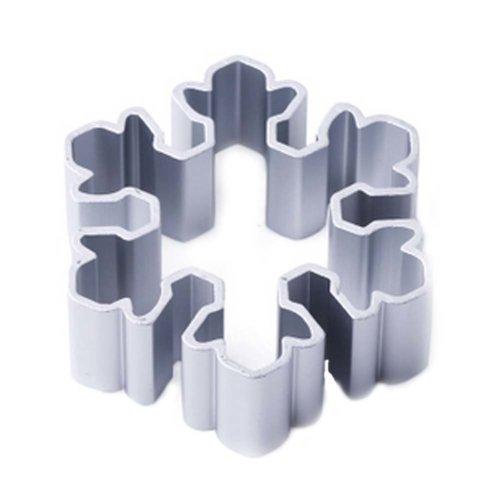 3 Pcs Snowflake Shape Aluminum DIY Baking Mold Cookies Cut