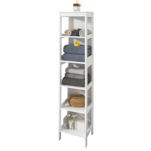 SoBuy® BZR14-W, 5 Tiers Bathroom Shelf Bathroom Storage Shelf Cabinet