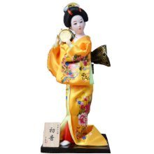 Japanese Geisha Doll Playing Small Drum Furnishing Articles, Random Style