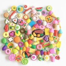 Novelty Food Shape Rubber Erasers
