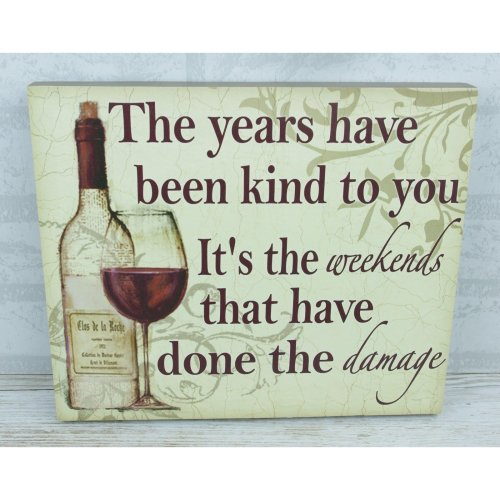 Wall Plaque The Years Have Been Kind To You Weekends Friend Humour