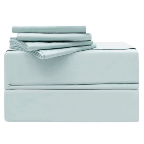 Simply the Best YMS008200 Luxury 620 Thread Count 100 Percent Cotton Sheet Set, Spa Blue - Queen - 6 Piece
