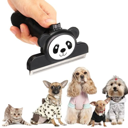 Pet Deshedding Tool And Grooming Brush For Dogs And Cats Stainless Steel Safety Blade
