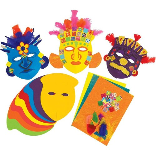 Make a Mayan Mask KS2 History Craft Activity (Pack of 30)