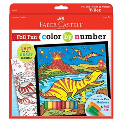 Faber-Castell Color by# T-Rex Color by#