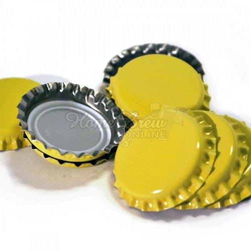 Crown Caps Yellow 100pk