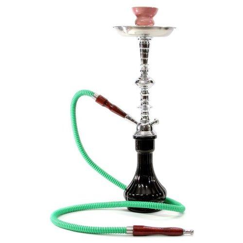 Medium black 1 hose hookah