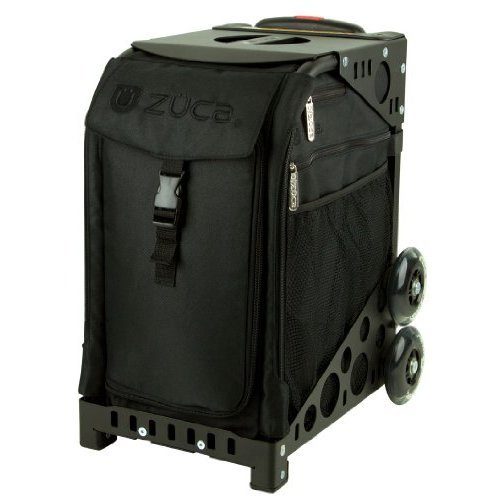 Zuca Stealth Sport Insert Bag Black Black embroidery with Black Non Flashing Wheels Sport Frame