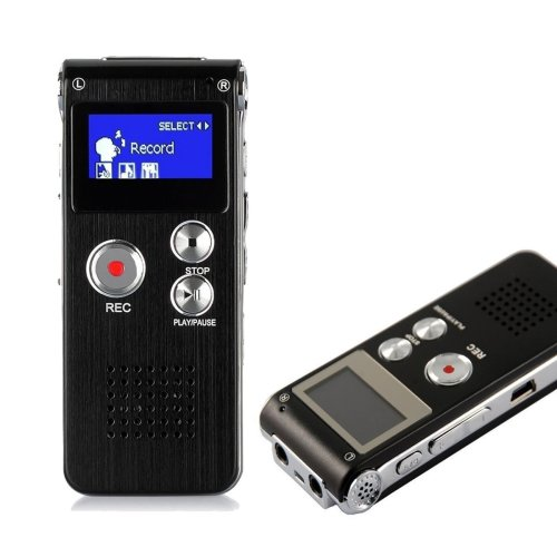 HccToo 8GB Multifunctional Digital Voice Recorder Rechargeable Dictaphone Stereo Voice Recorder with MP3 Player Perfect for Recording Interviews,...