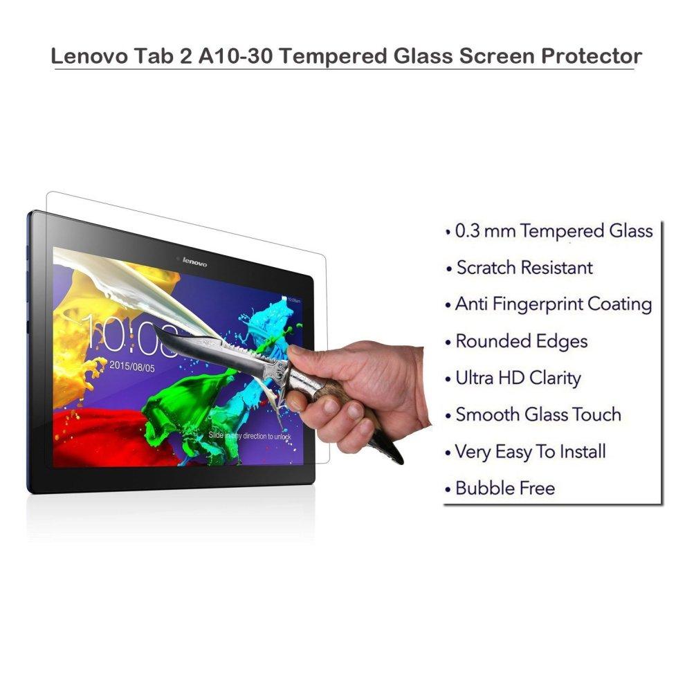 ATUMP Lenovo Tab 2 A10 & Lenovo Tab3 10 Business Screen Protector Glass  Guard [2 pack] Premium Tempered Glass Screen Protector for Lenovo Tab 2