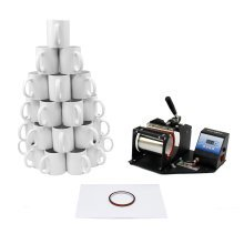 PixMax Sublimation Mug Press plus 72 Mugs Bundle