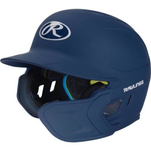 Rawlings 1113835 Mach Extension Batting Helmet with Senior Right-Handed - Navy