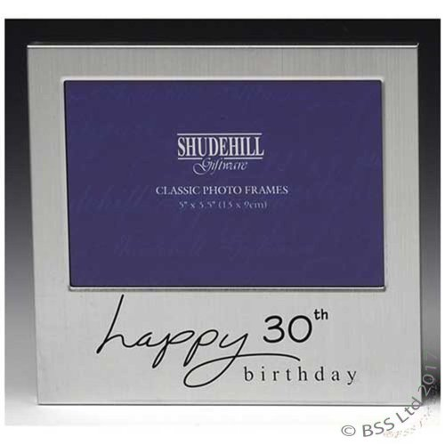 Happy 30th Birthday 5 x 3 photo Frame by Shudehill giftware