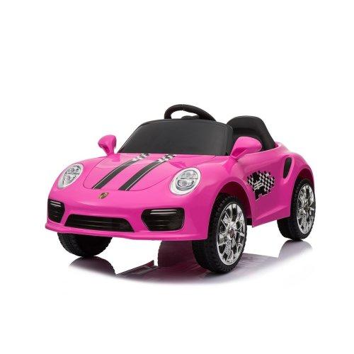(Pink) 12V Porsche 911 Turbo S Kids' Ride-On | Electric Ride-On Porsche
