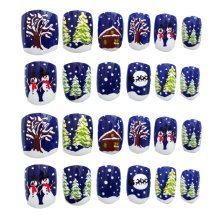 24 Pcs Fashion Nails Stickers Beautiful Nail Decorations False Nails Tips [G]