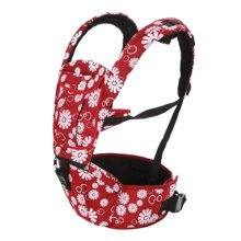 Multifunctional Baby Carrier Waist Stool Strap Carrier,Painted Design Wine Red