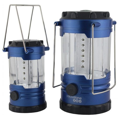 Yellowstone LED Family Camping Lantern Set (Metallic Blue)