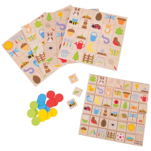 Bigjigs Toys Educational Wooden Garden Bingo - Matching Board Game