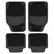 4pc Heavy Duty Non-Slip Car Mat Set | Rubber Car Mats
