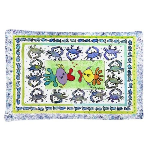 20.5 x 30 in. Kissing Fish Moisture Wicking Fabric Standard Pillow Case
