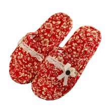 Colorful Slippers For Women/Classic Cotton Slippers/Red