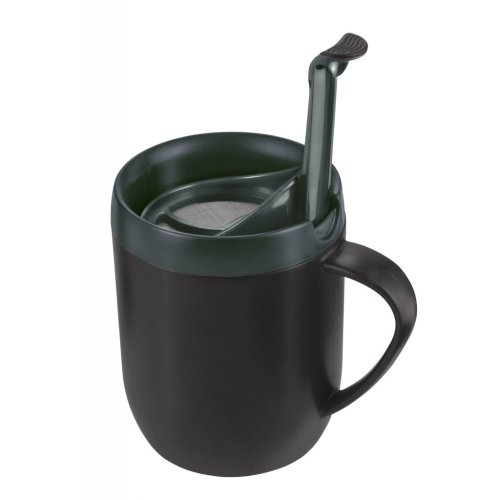 Graphite Smart Cafe Travel Mug - Zyliss Cafetiere Hot Grey Coffee Cup One Double -  zyliss cafetiere mug hot grey coffee cup one double