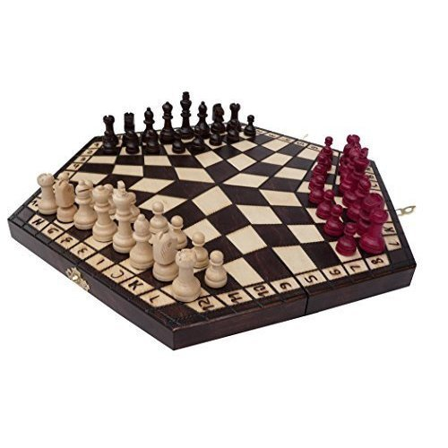 3 Three Players Chess Set - MEDIUM - RULES INCLUDED
