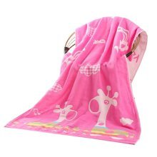 "Baby/Kids Cotton Bath Rug Breathable Bath Towel Summer Cover Blanket 27.55""x55.11""(Pink-2)"