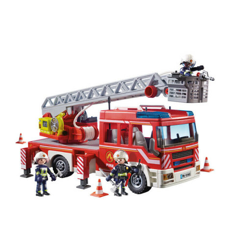 Playmobil Fire Engine with Ladder, Lights and Sounds?Interactive Playset?+5yrs.