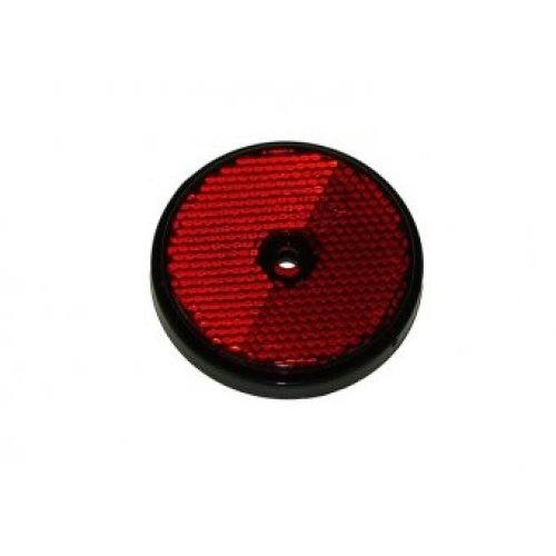 Red 2 Pack Of Trailer Reflectors - Maypole Round Caravan 854 -  reflectors red maypole round 2 trailer caravan 854