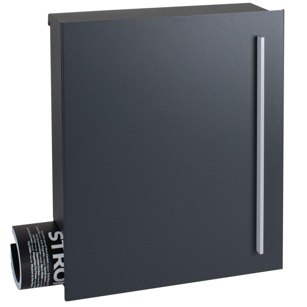 Mocavi Box 110 Designer Letterbox With Newspaper Compartment