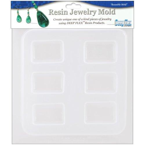 "Resin Jewelry Mold 6.5""X7""-Rectangles - 6 Cavity"