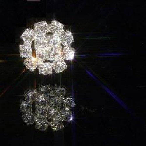10 x Small Round Silver Rhinestone Diamante Embellishment Crystal Sparkle Weddings Crafts