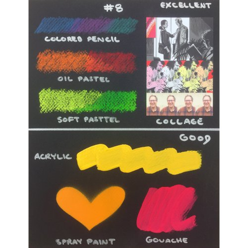 "Crescent Black Art Illustration Board 3/Pkg-5""X7"" Black"