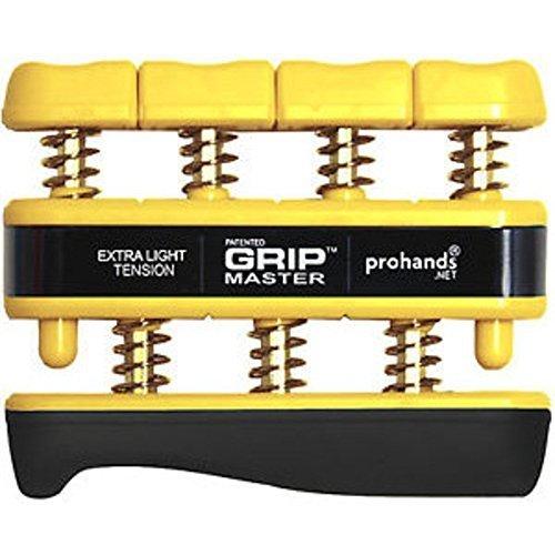 Gripmaster Hand Exerciser Yellow X Light Tension 3 Pounds per Finger
