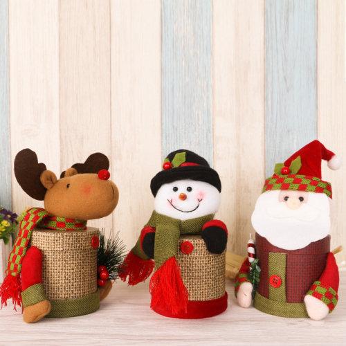 Linen Cardboard Christmas Candy Box
